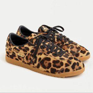 NEW J. Crew Gola Leopard Calf Hair Bullet Sneakers